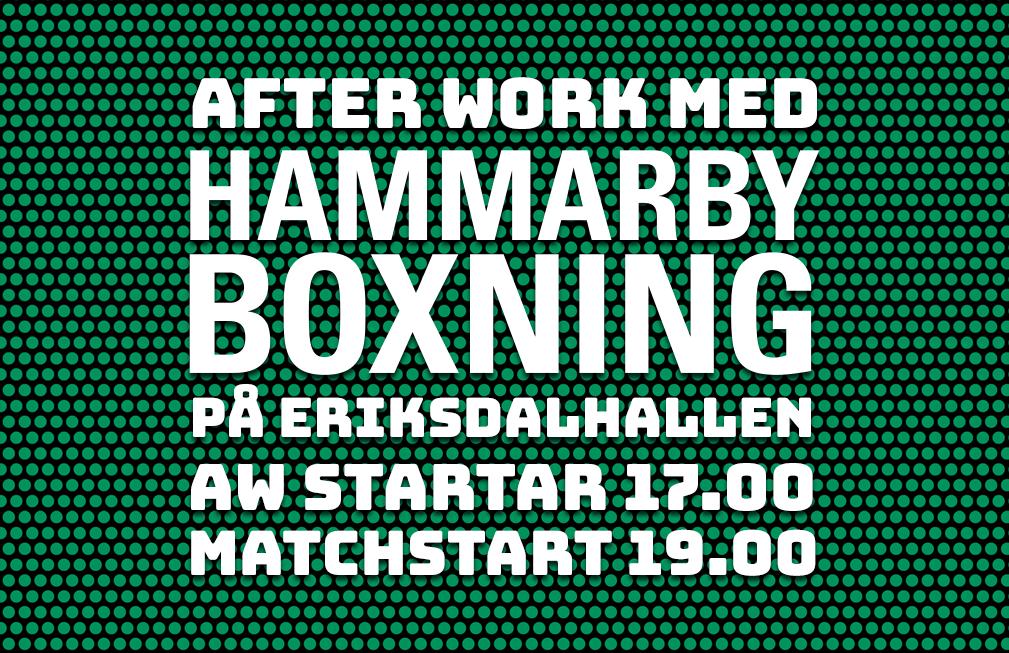 After Work med Hammarby Boxning på fredag
