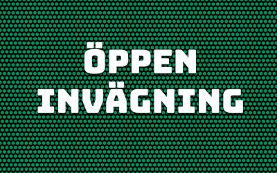 Öppen invägning fredag kl 11.00
